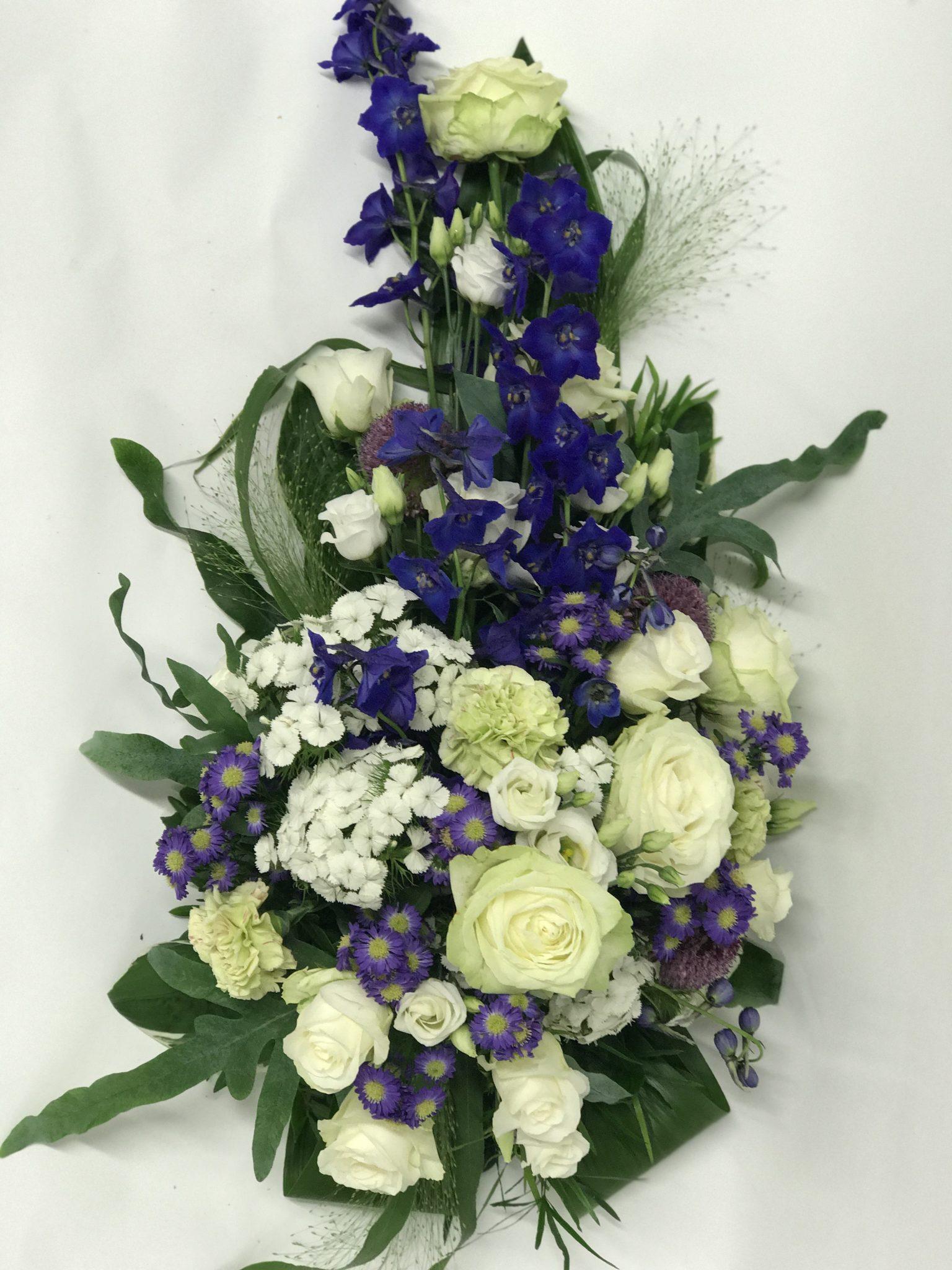 Funeral Arrangement Blue And White Ihanakukkanen Fi